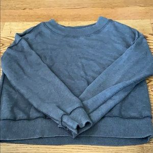 Distressed crew neck sweatshirt